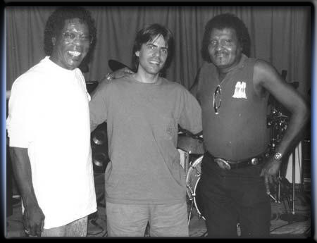 Jon Bates with Buddy Guy and Albert Collins