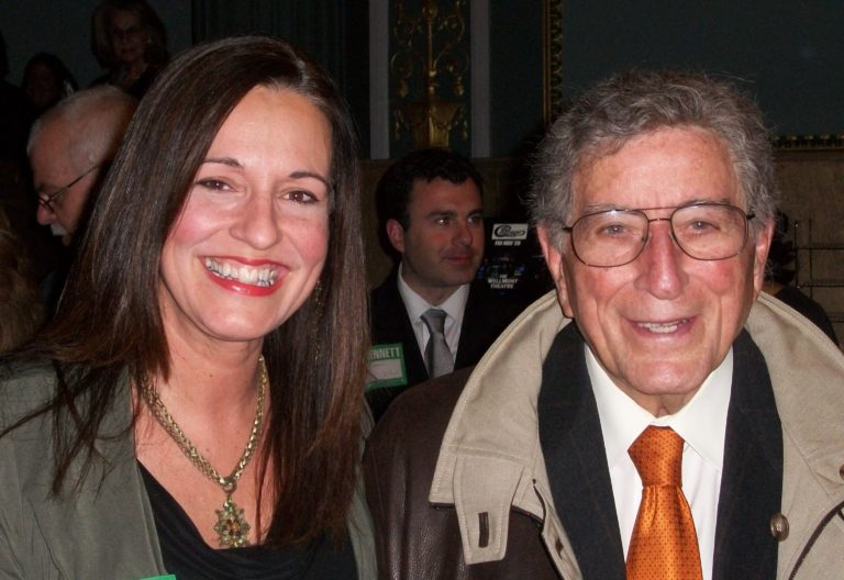 Debbie Major and Tony Bennett