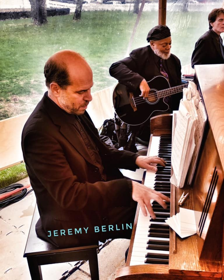 Jeremy Berlin at Piano with The Jon Bates Band at Martha's Vineyard wedding
