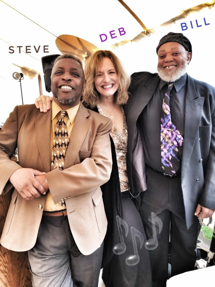 Steve Riddick, Debbie Major, and Bill Dotts performing at a Martha's Vineyard Wedding